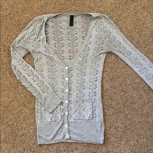 Sweaters - Light gray cardigan